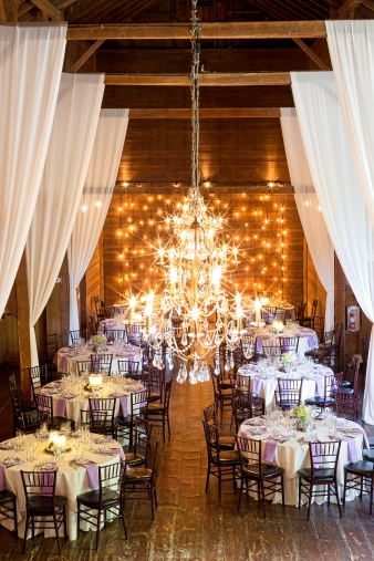 The stunning interior venue of The Barns at Wesleyan Hills in Middletown Connecticut